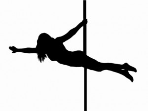 Pole dance figure long
