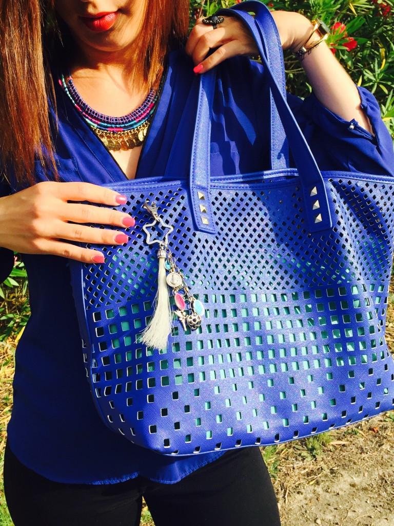 Look bleu sac