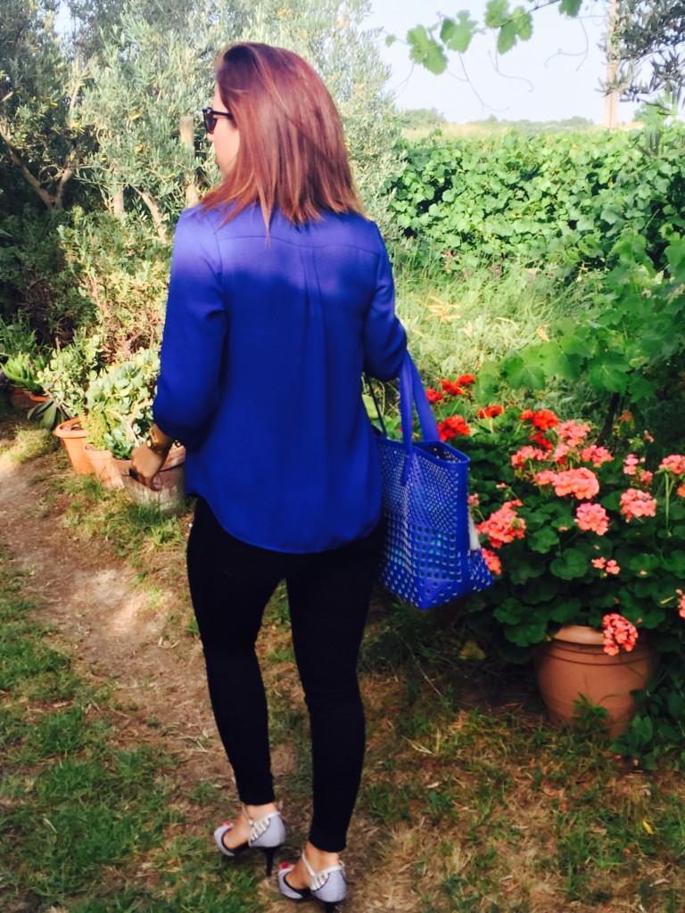 Look bleu top