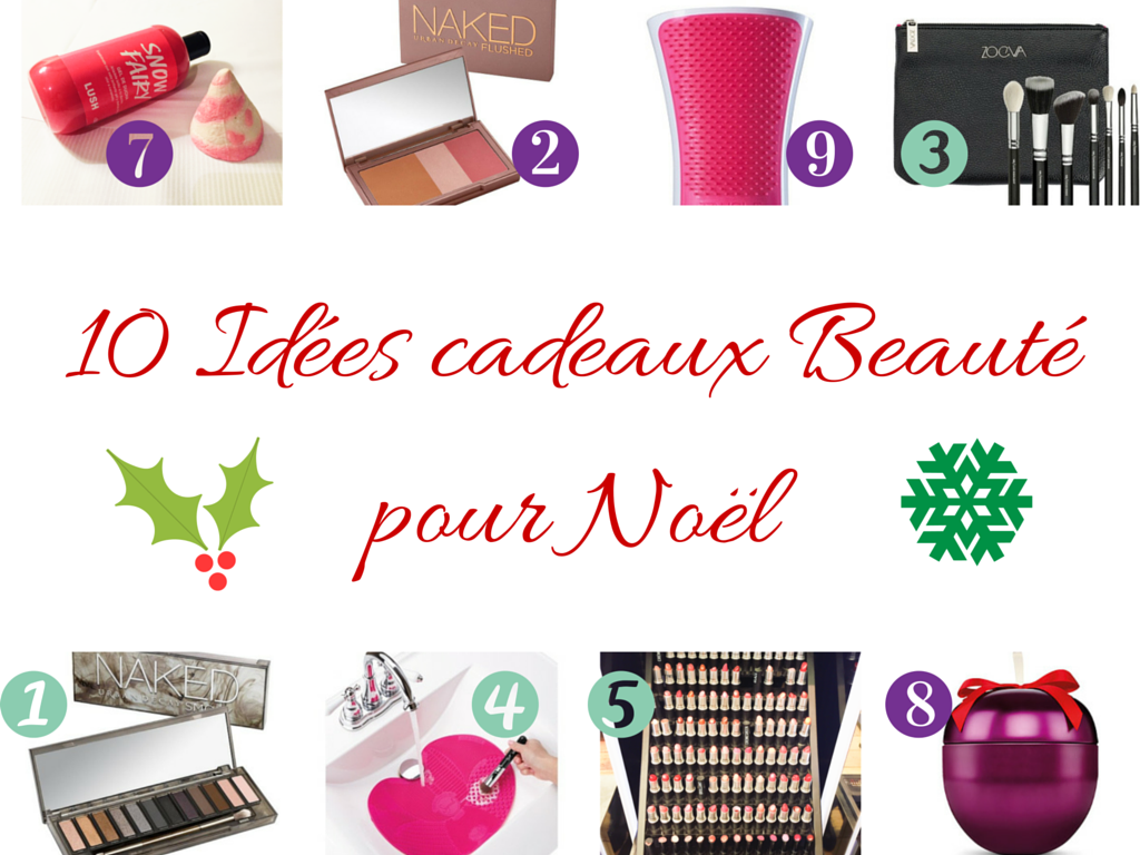 10 id es cadeaux beaut pour no l mademoiselle e. Black Bedroom Furniture Sets. Home Design Ideas