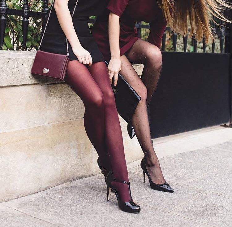 Gambettes de noel - collants portés