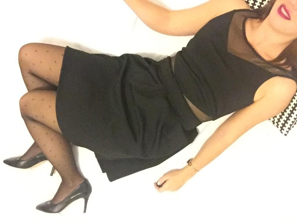 Gambettes de noel - collants noirs