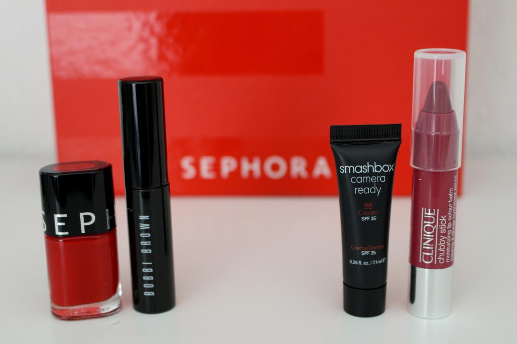 sephora box - makeup