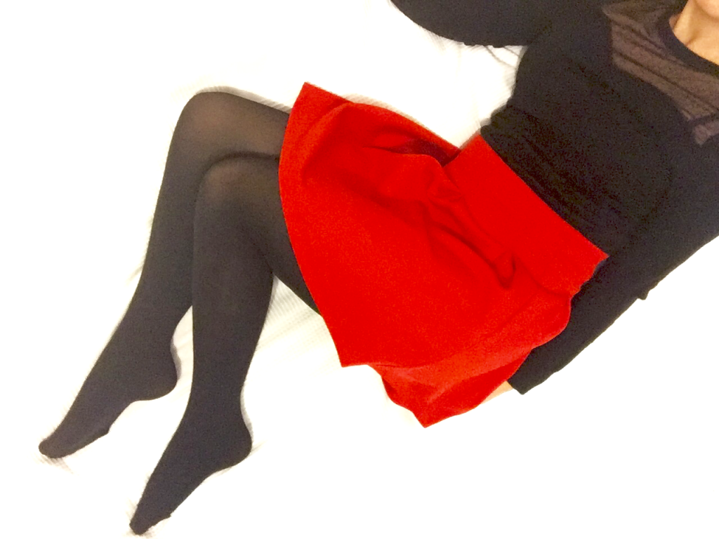 gambettes de janvier - collant noir
