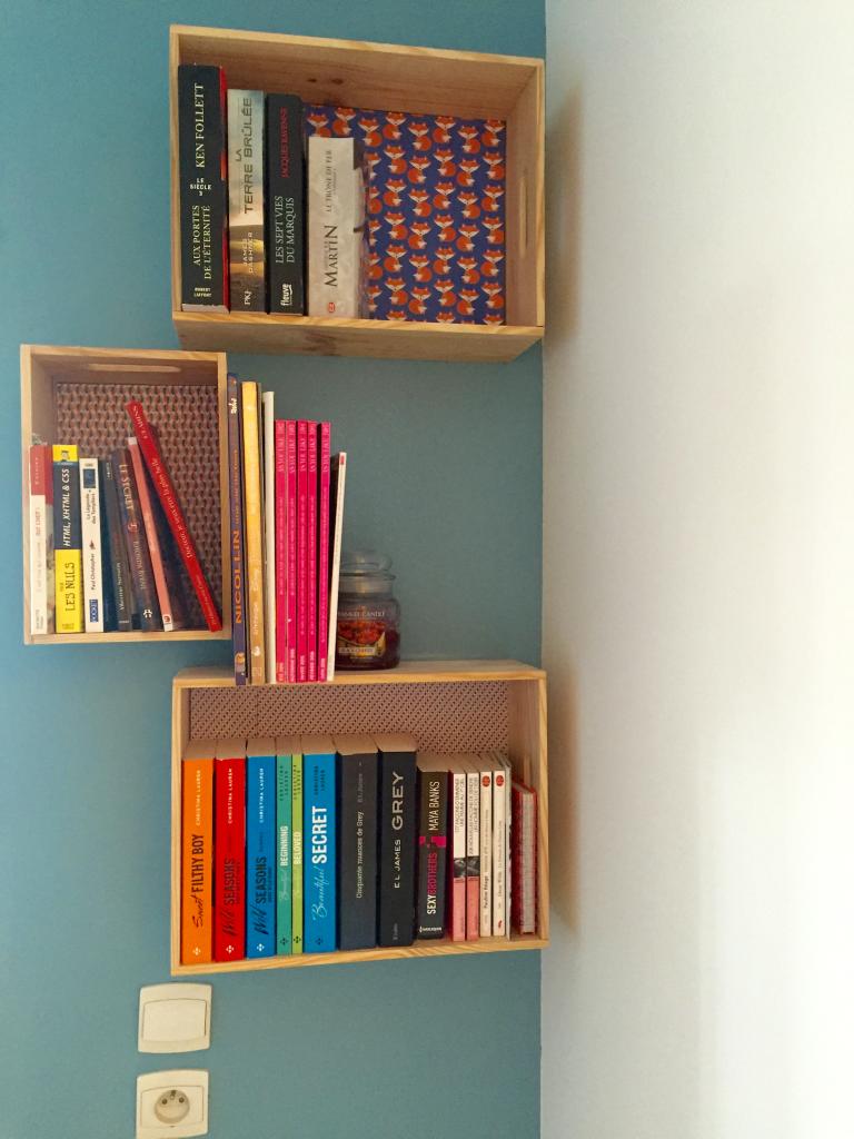 DIY boite bibliothèque pleine_mademoiselle-e
