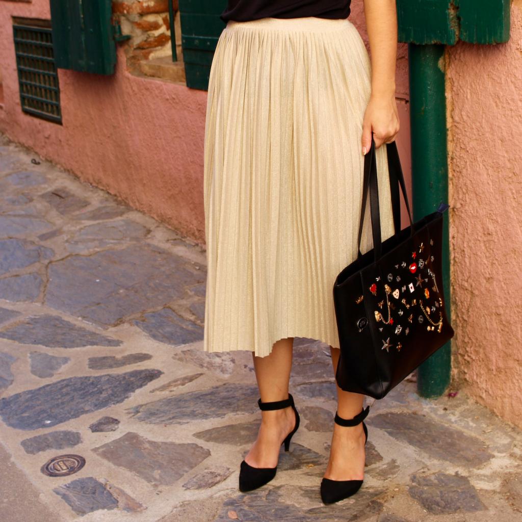 Jupe plissée mademoiselle E - carrée jupe