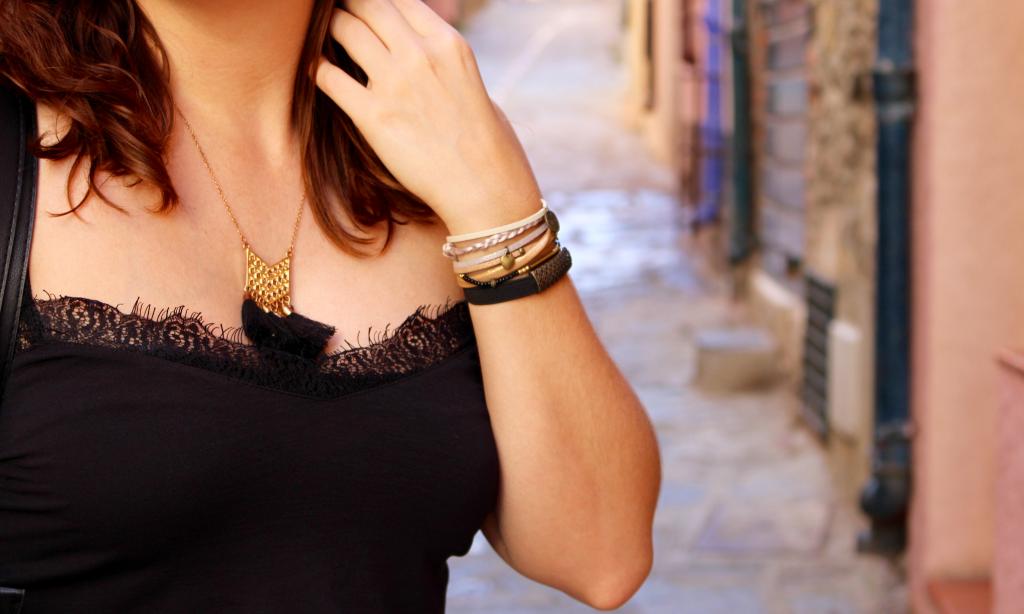 Jupe plissée mademoiselle E - zoom bracelet