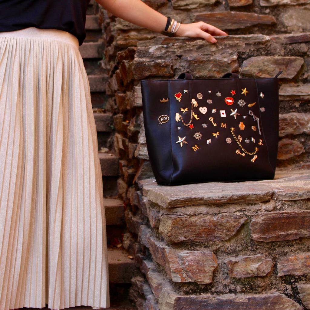 Jupe plissée mademoiselle E - carrée sac