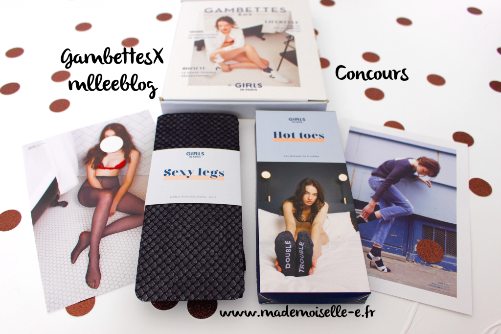 Gambettes box #Octobre 2016 concours mademoiselle-e