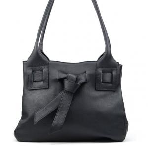 Accessoires sac cuir noir Mademoiselle E