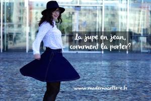 jupe en jean presentation mademoiselle E