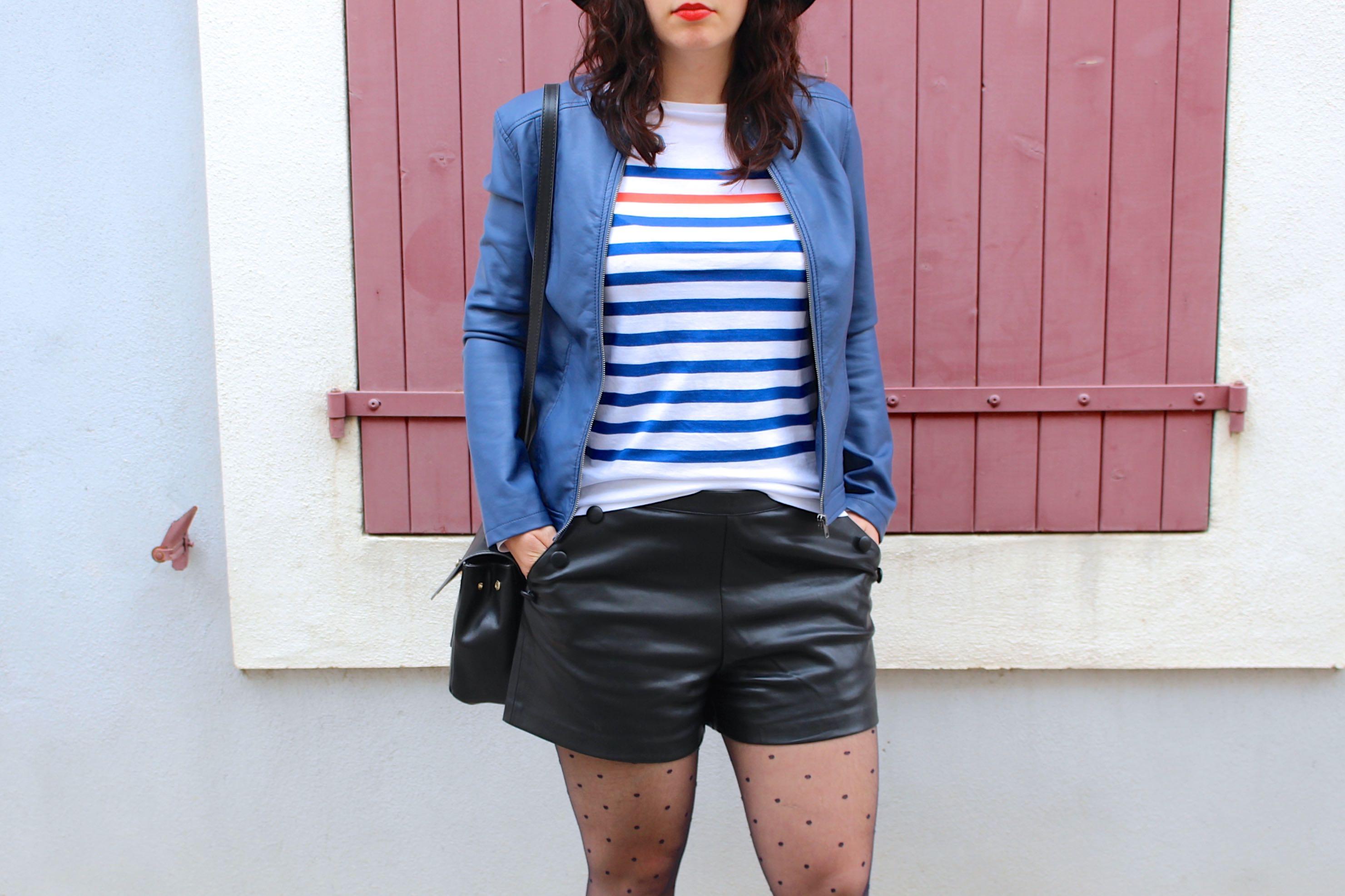 marinière short simili 15 mademoiselle e