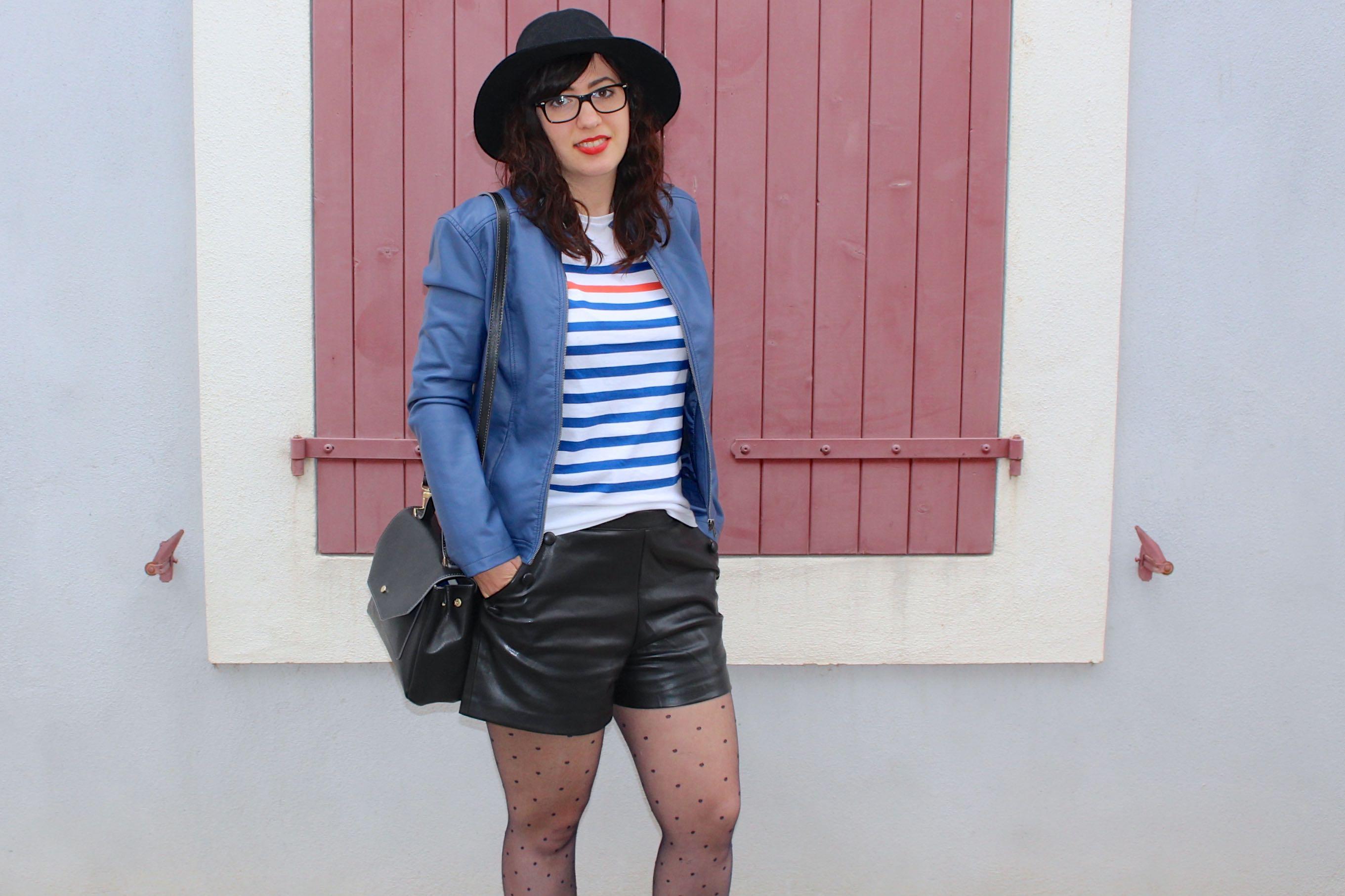marinière short simili 16 mademoiselle e
