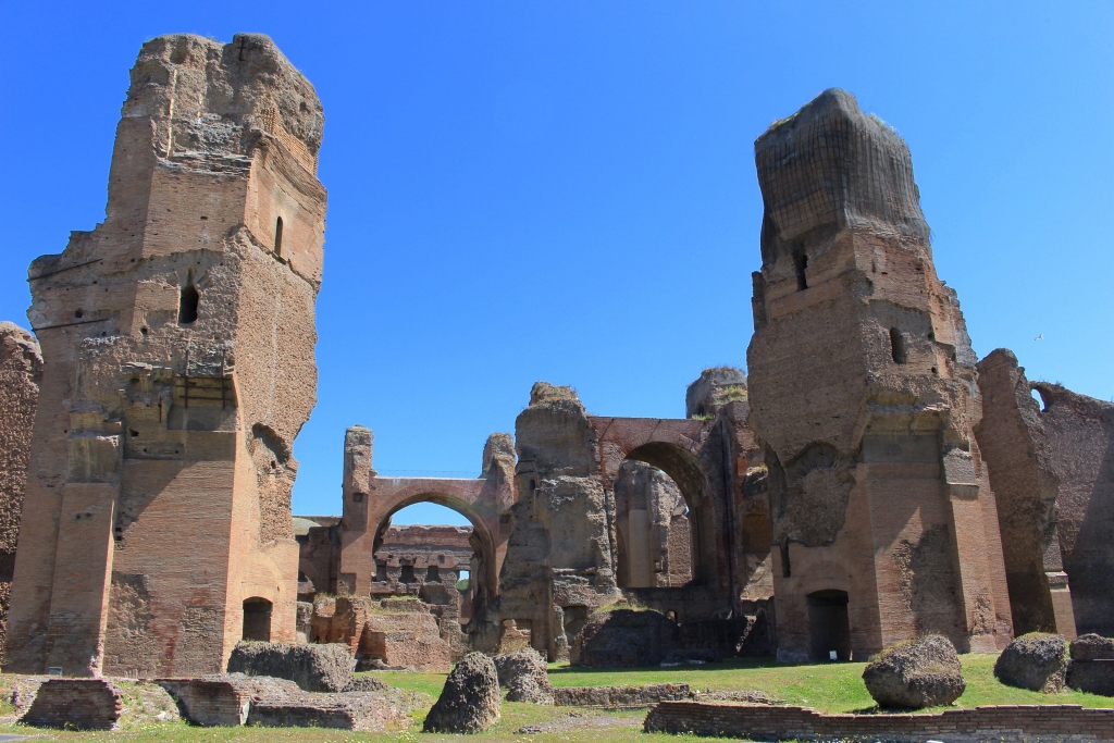 Rome city guide thermes de caracalla mademoiselle-e