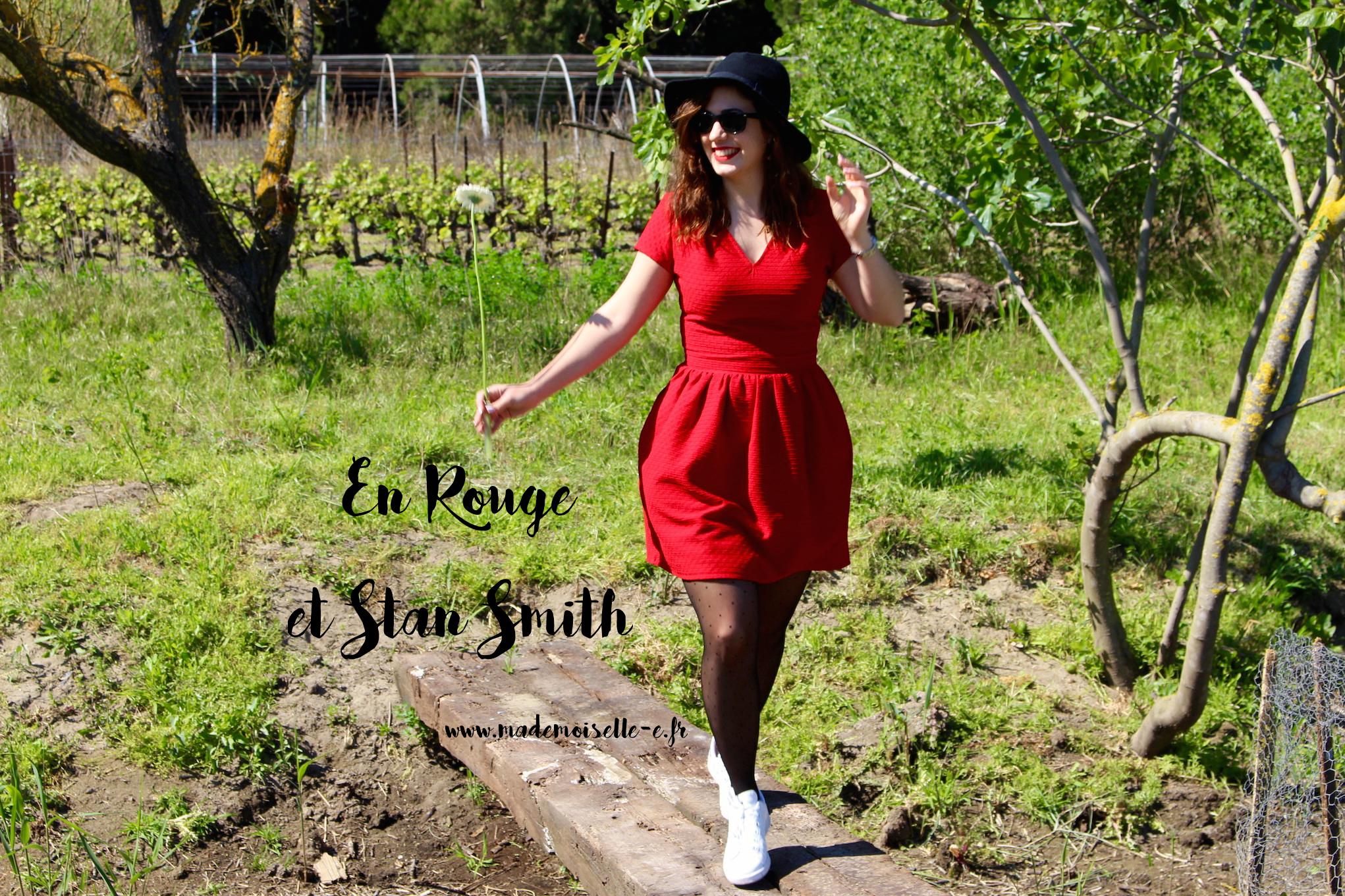 rouge et stan smith présentation_mademoiselle_e