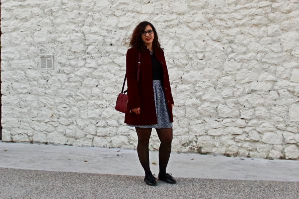 jupe en laine présentation mademoiselle-e