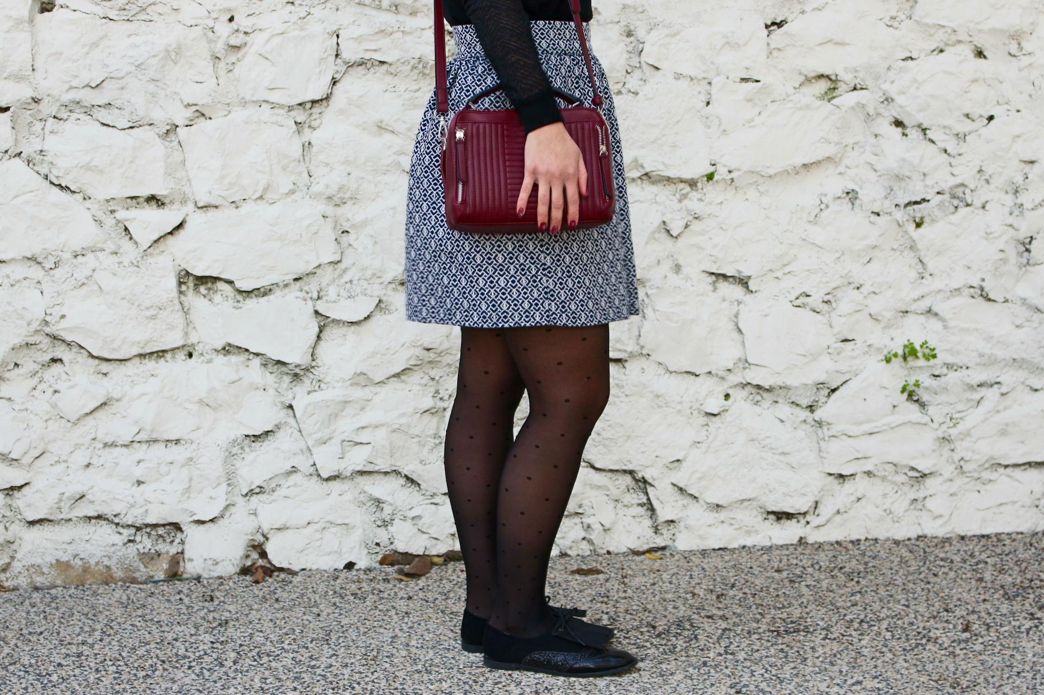 jupe en laine bas mademoiselle-e
