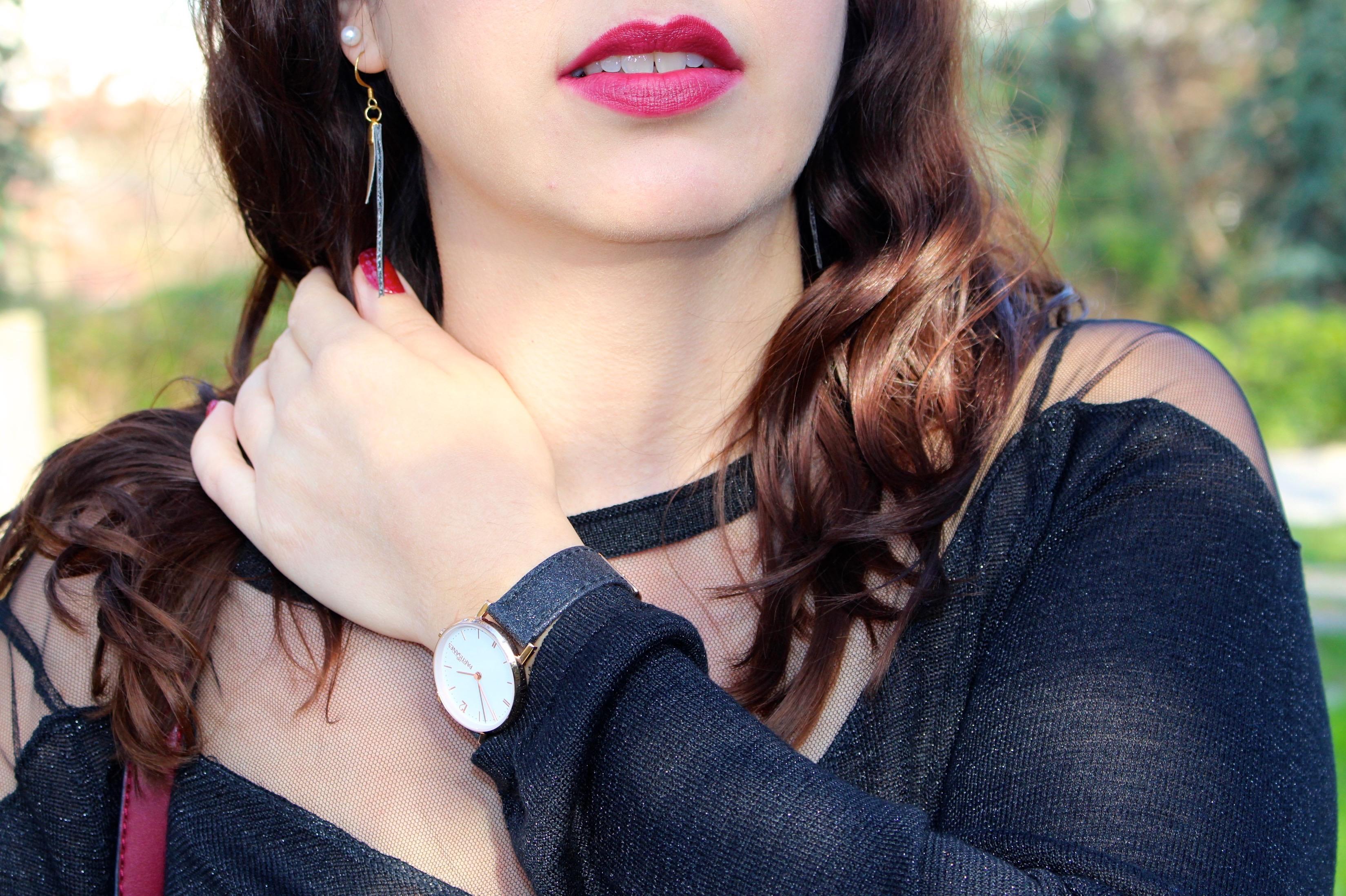 Jupe maje montre mademoiselle-e