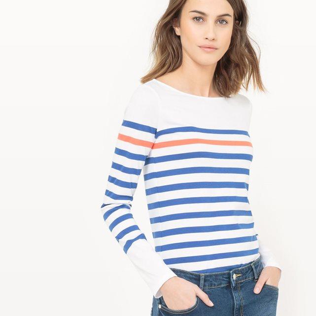 T-shirt rayé marinière mademoiselle-e