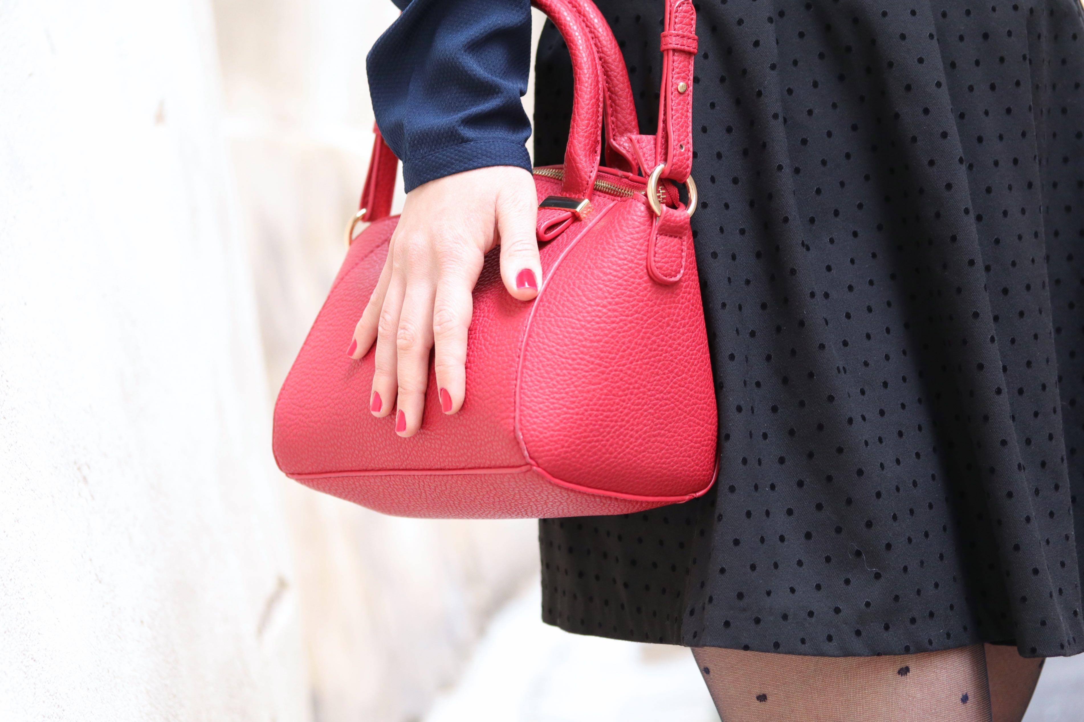 trench sac kiabi rouge mademoiselle E