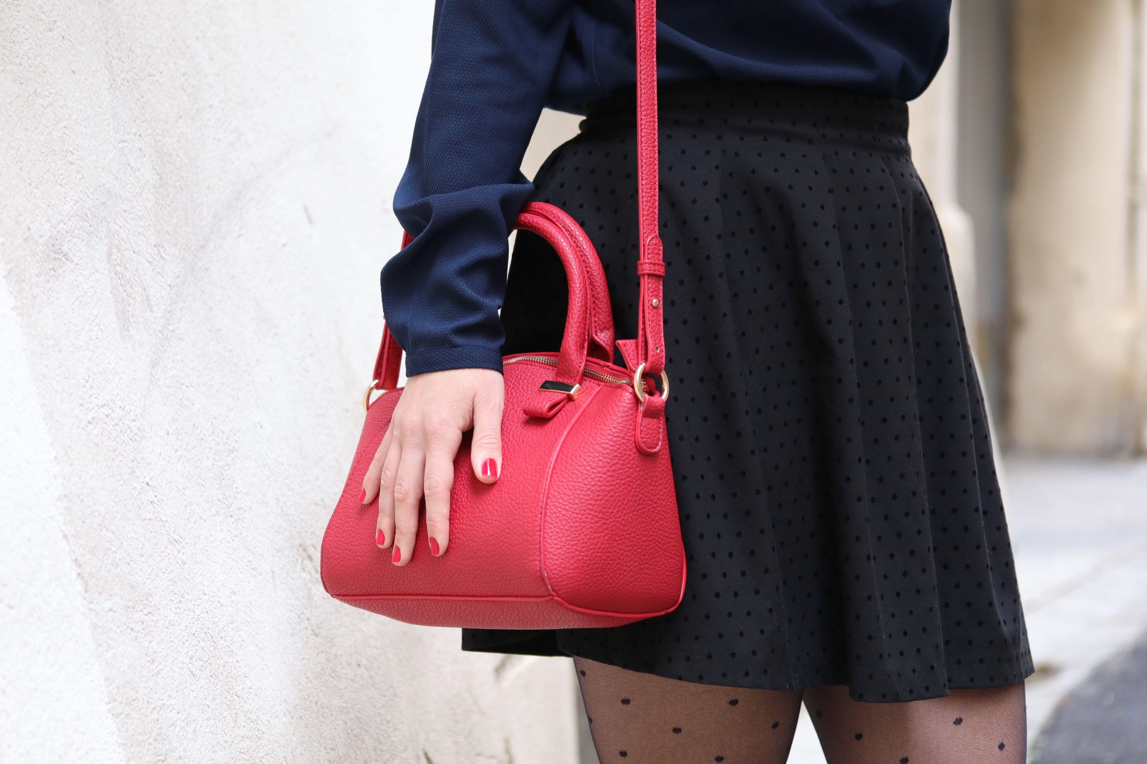 trench sac kiabi rouge 2 mademoiselle E