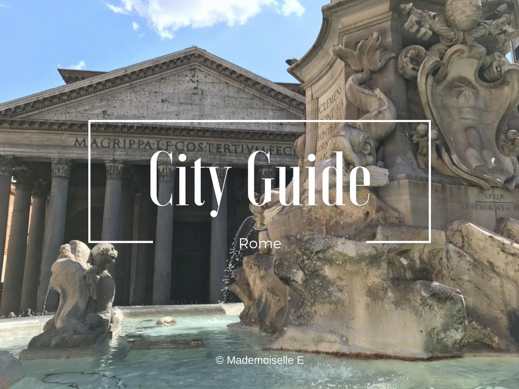 Rome city guide presentation mademoiselle-e
