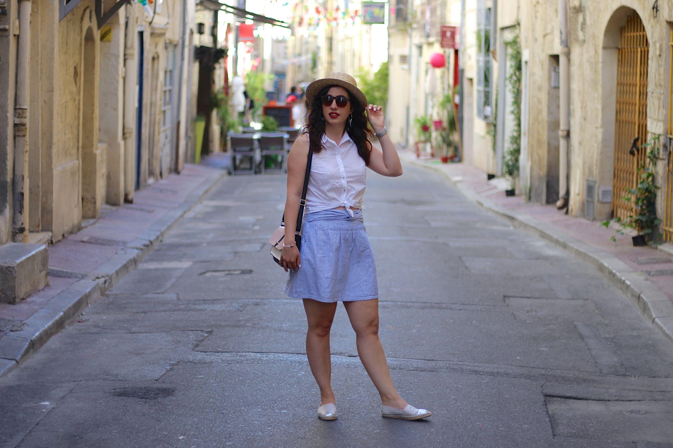 jupe rayée 5 mademoiselle-e