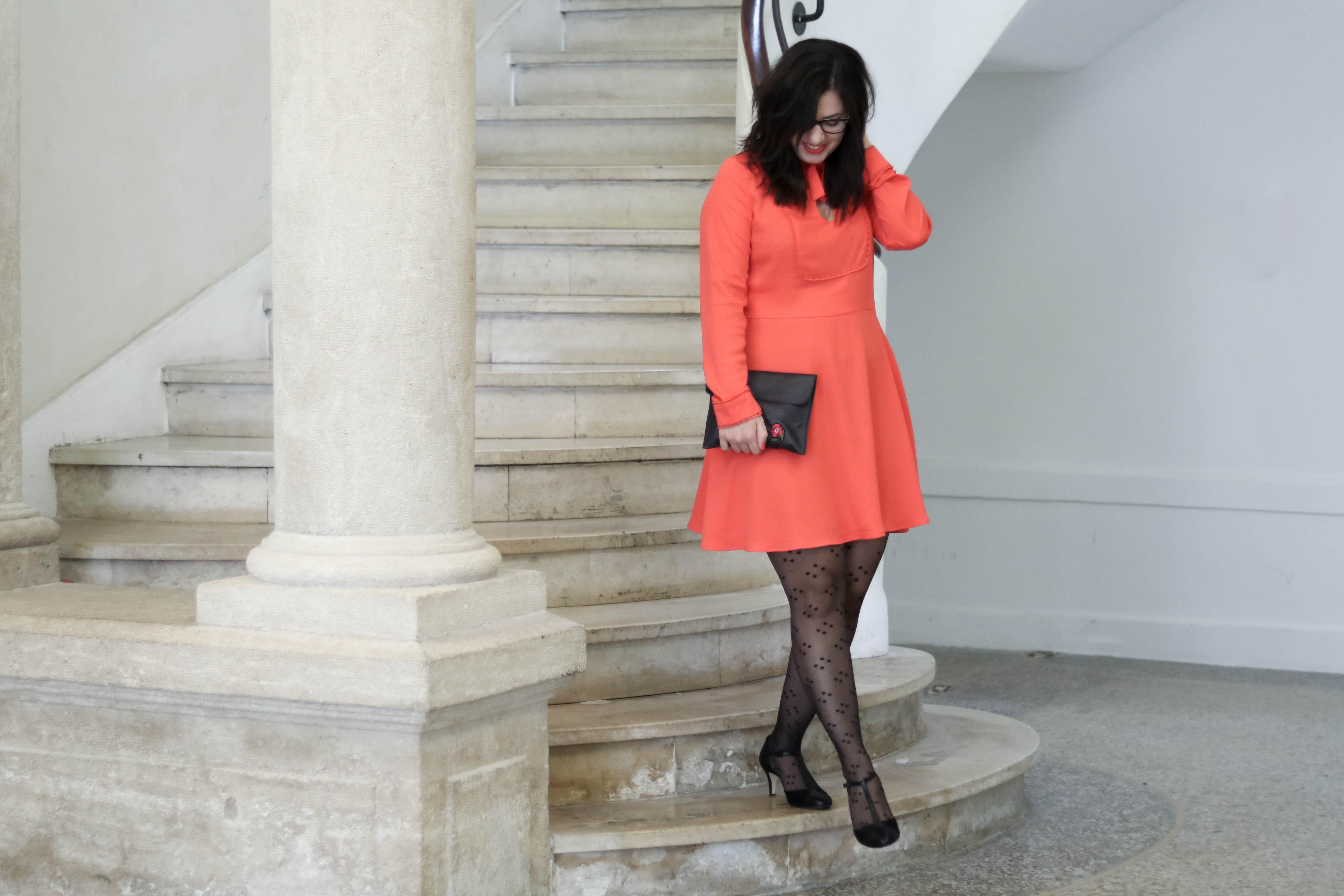robe orange mademoiselle r 11 mademoiselle e