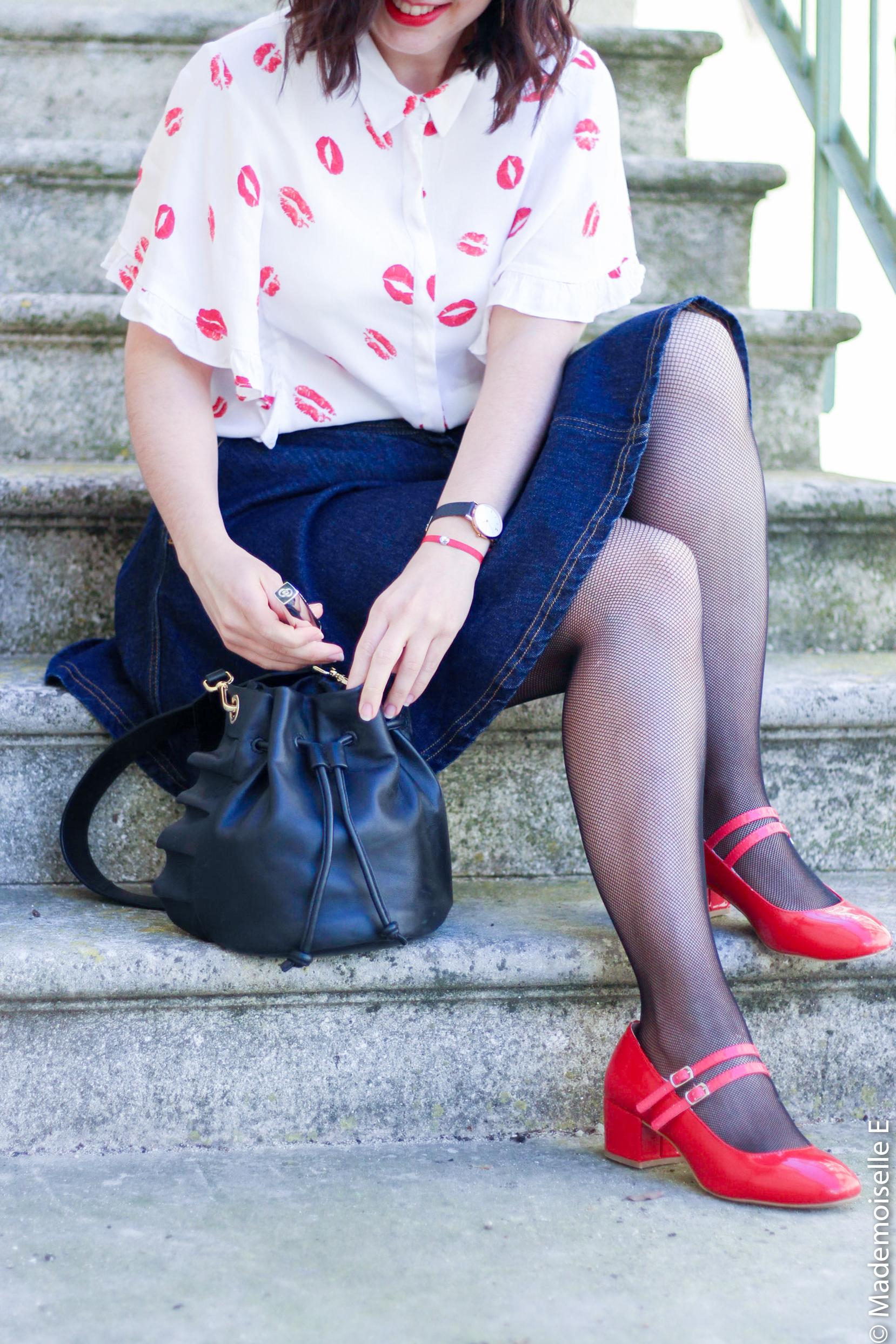 imprimé bisous chemise forever 21 13 mademoiselle-e