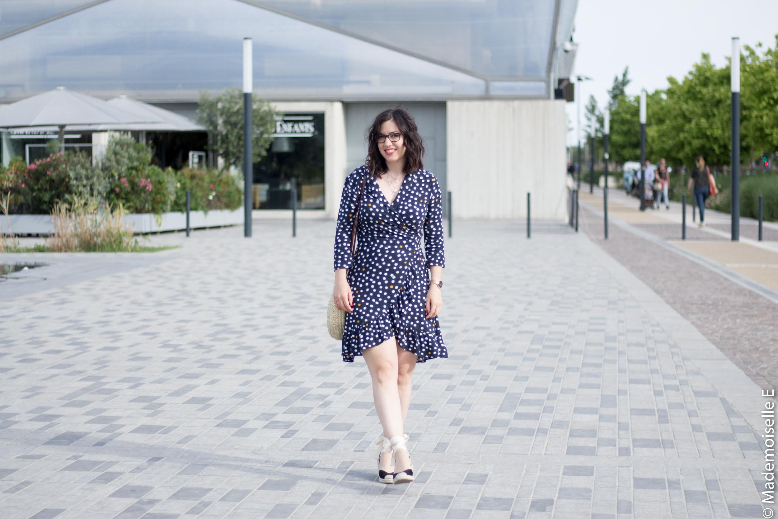 robe portefeuille pois volants Vila Clothes 3 mademoiselle-e look