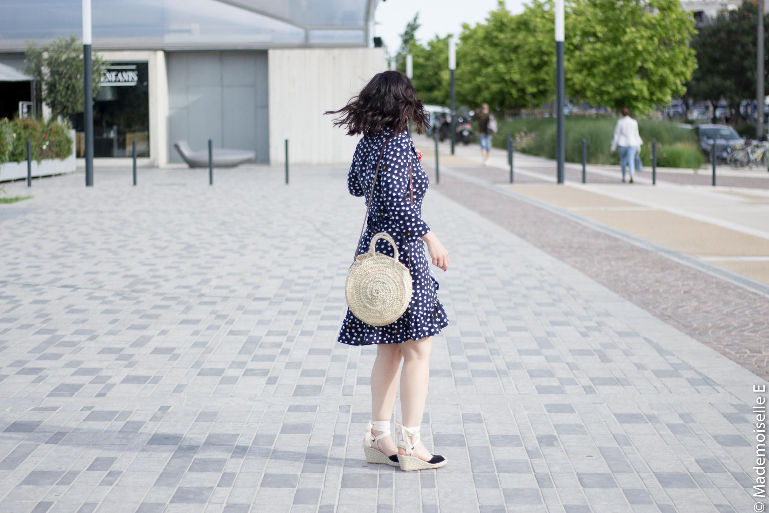 robe portefeuille pois volants Vila Clothes 6 mademoiselle-e look