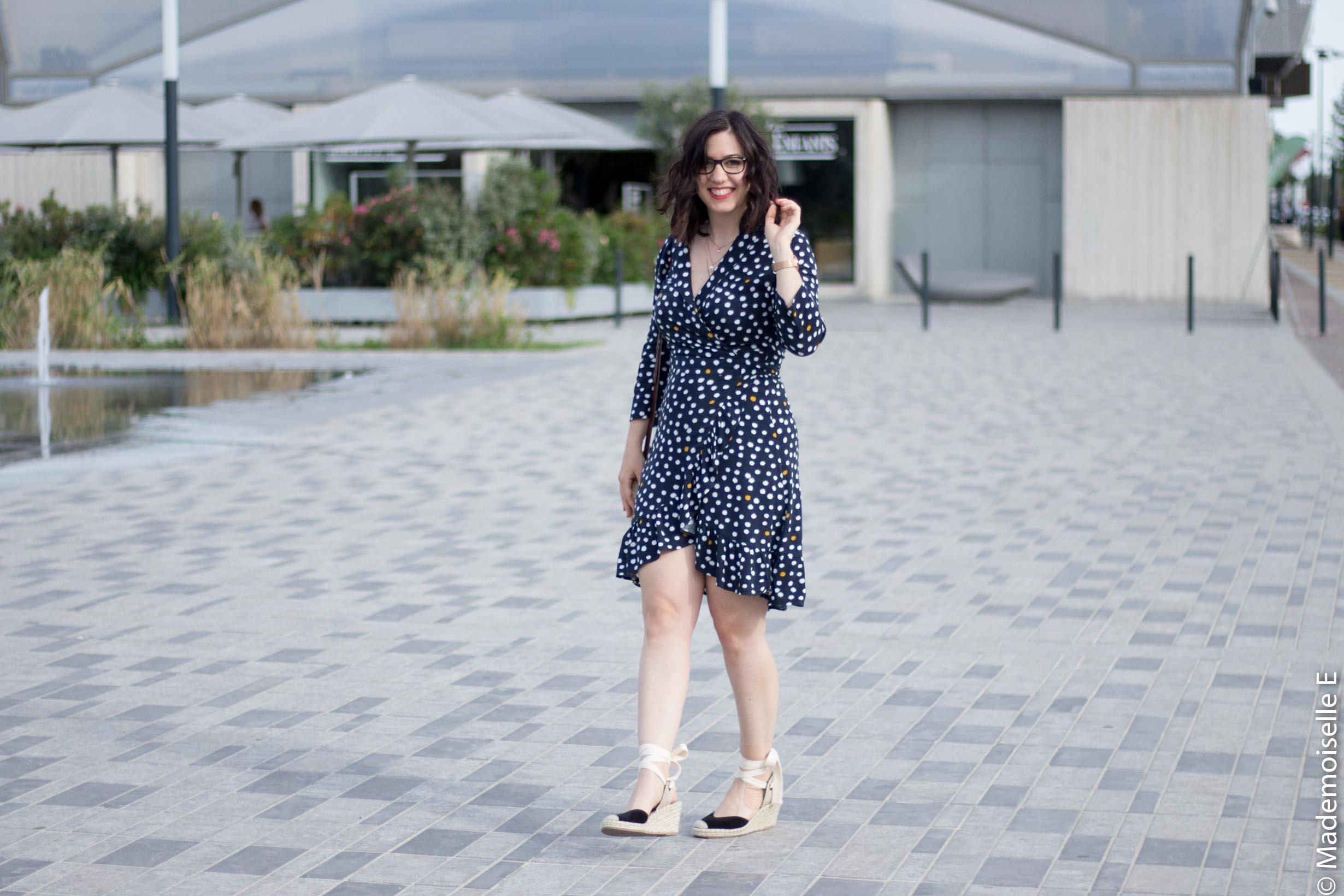 robe portefeuille pois volants Vila Clothes 13 mademoiselle-e look