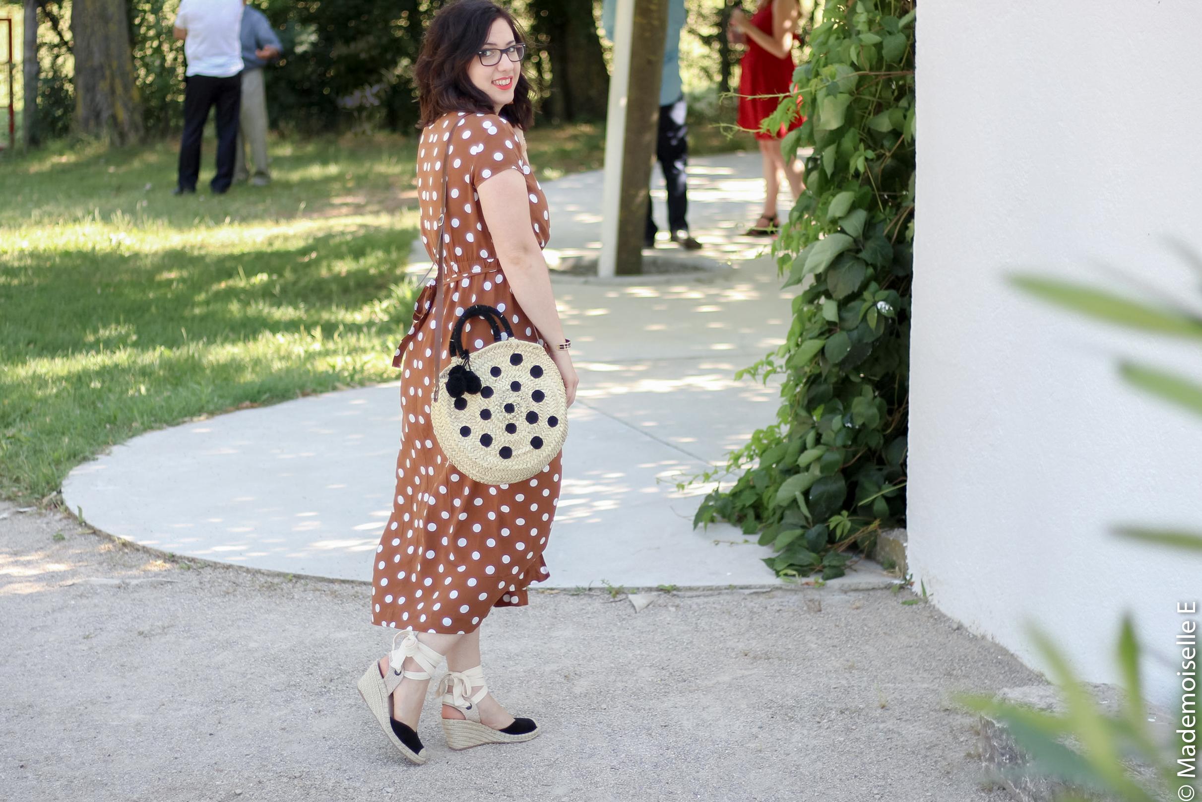 robe longue a pois 4 look été blog mode mademoiselle-e