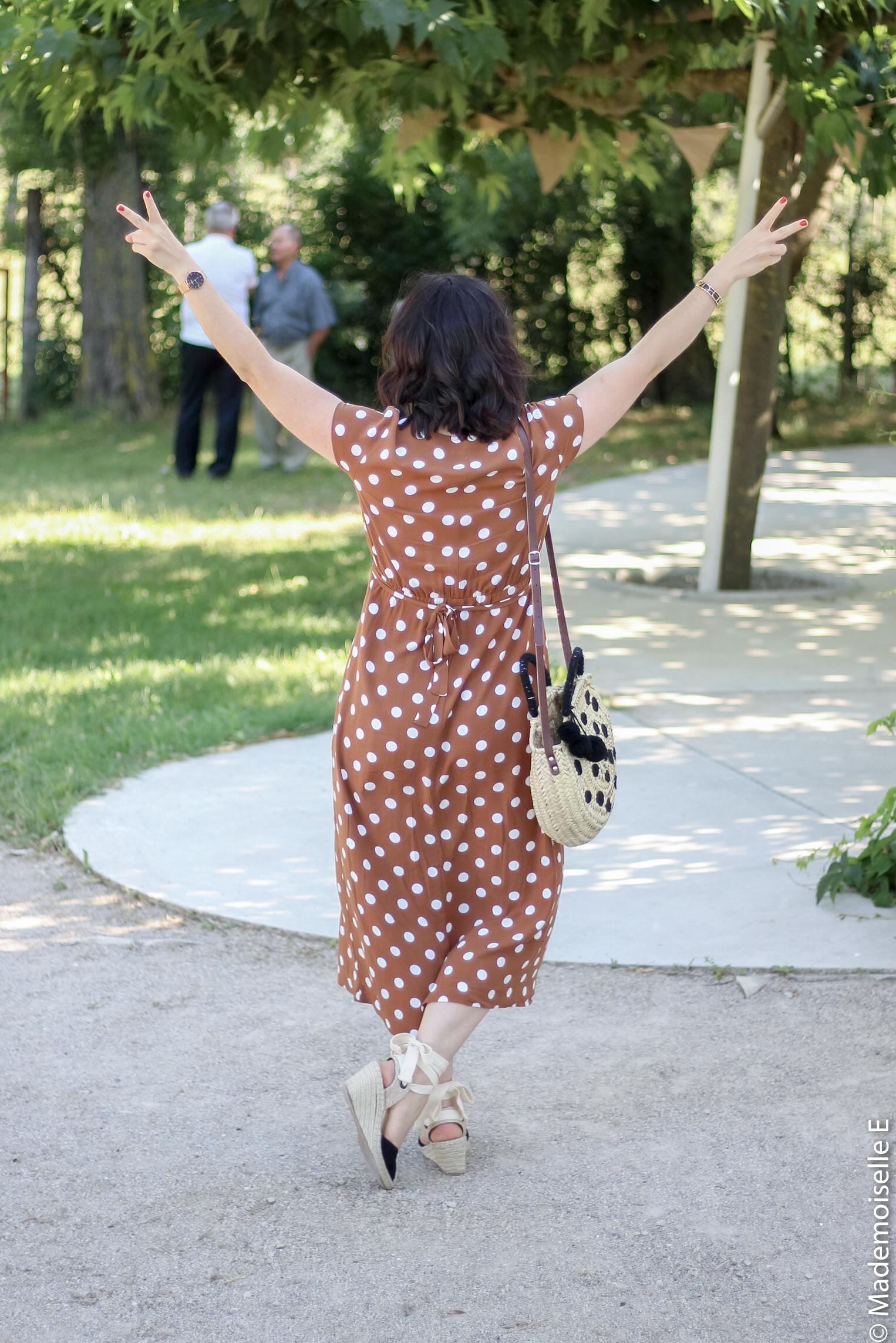 robe longue a pois 7 look été blog mode mademoiselle-e