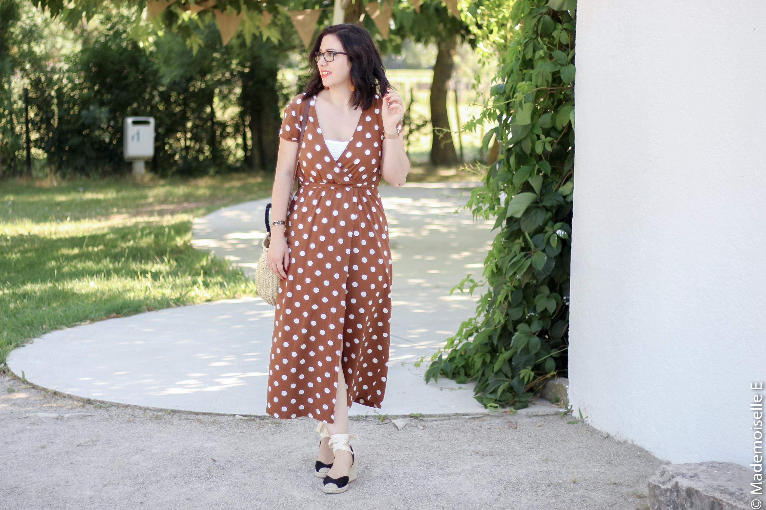 robe longue a pois 11 look été blog mode mademoiselle-e