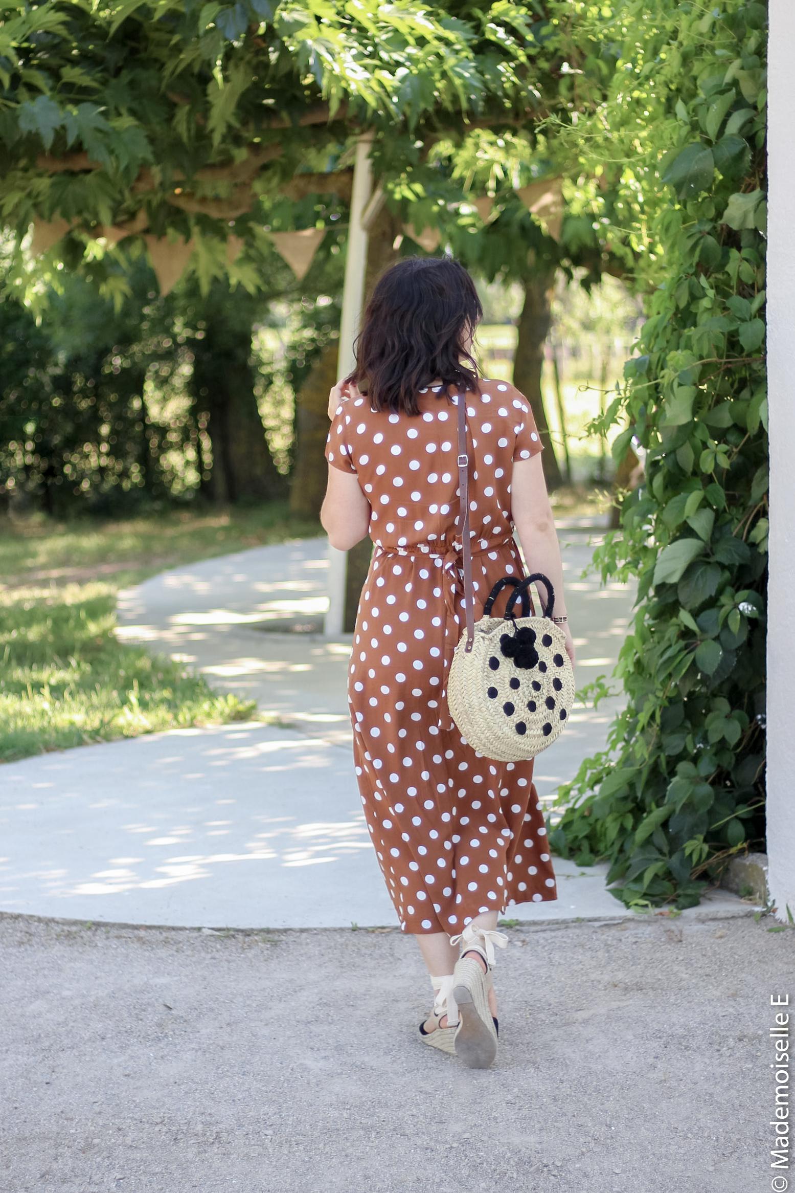 robe longue a pois 6 look été blog mode mademoiselle-e