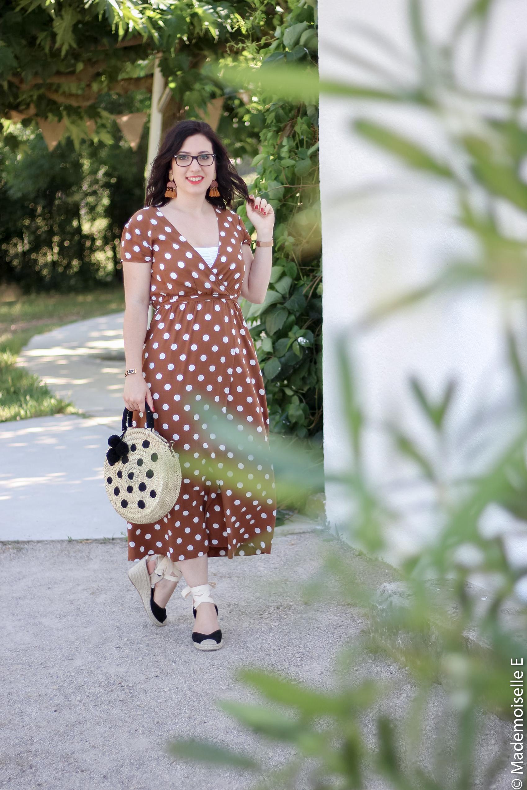 robe longue a pois 10 look été blog mode mademoiselle-e