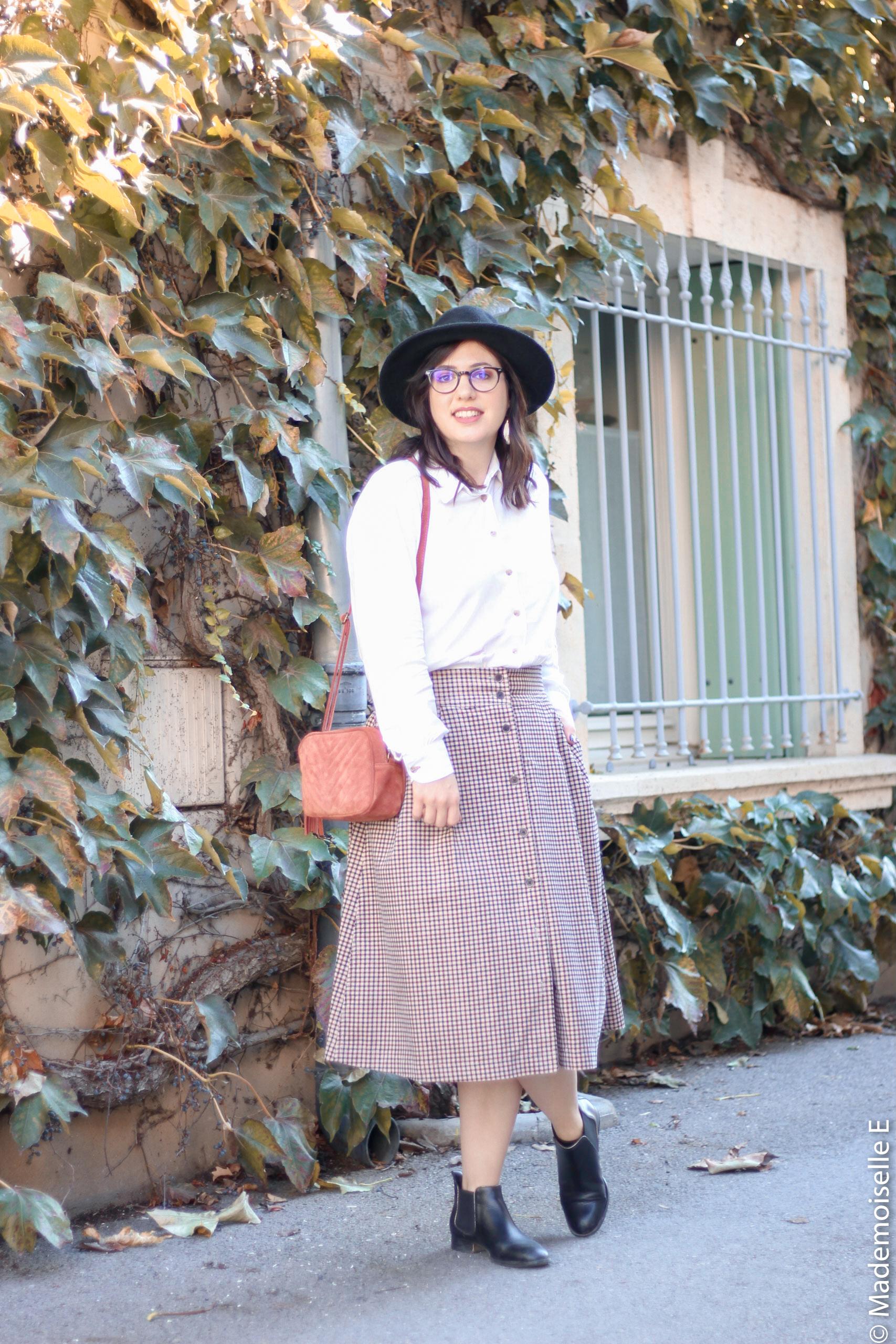 jupe midi Ines de la Fressange x uniqlo 22 mademoiselle-e