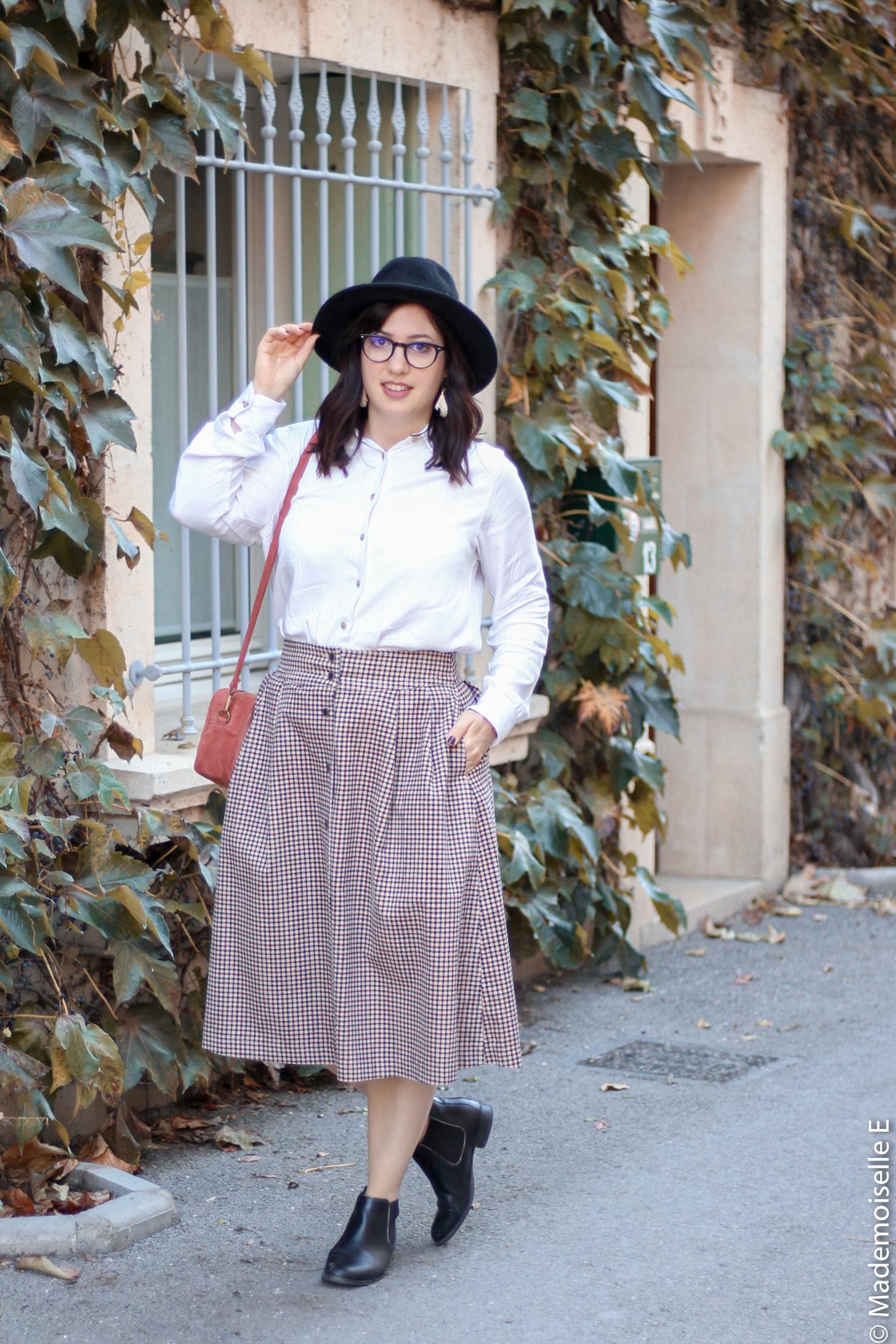 jupe midi Ines de la Fressange x uniqlo 2 mademoiselle-e