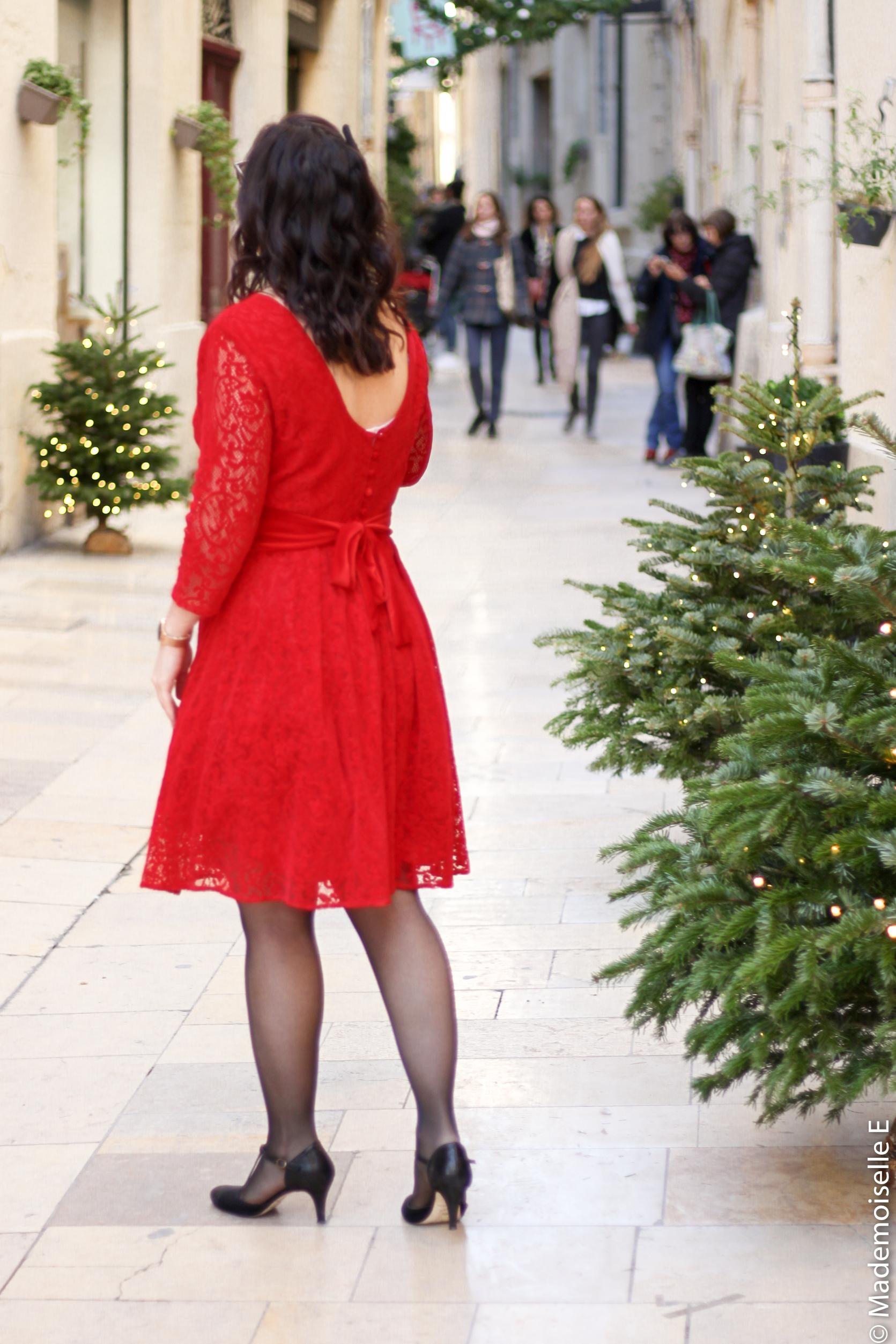 Robe rouge look de noel 2 mademoiselle-e