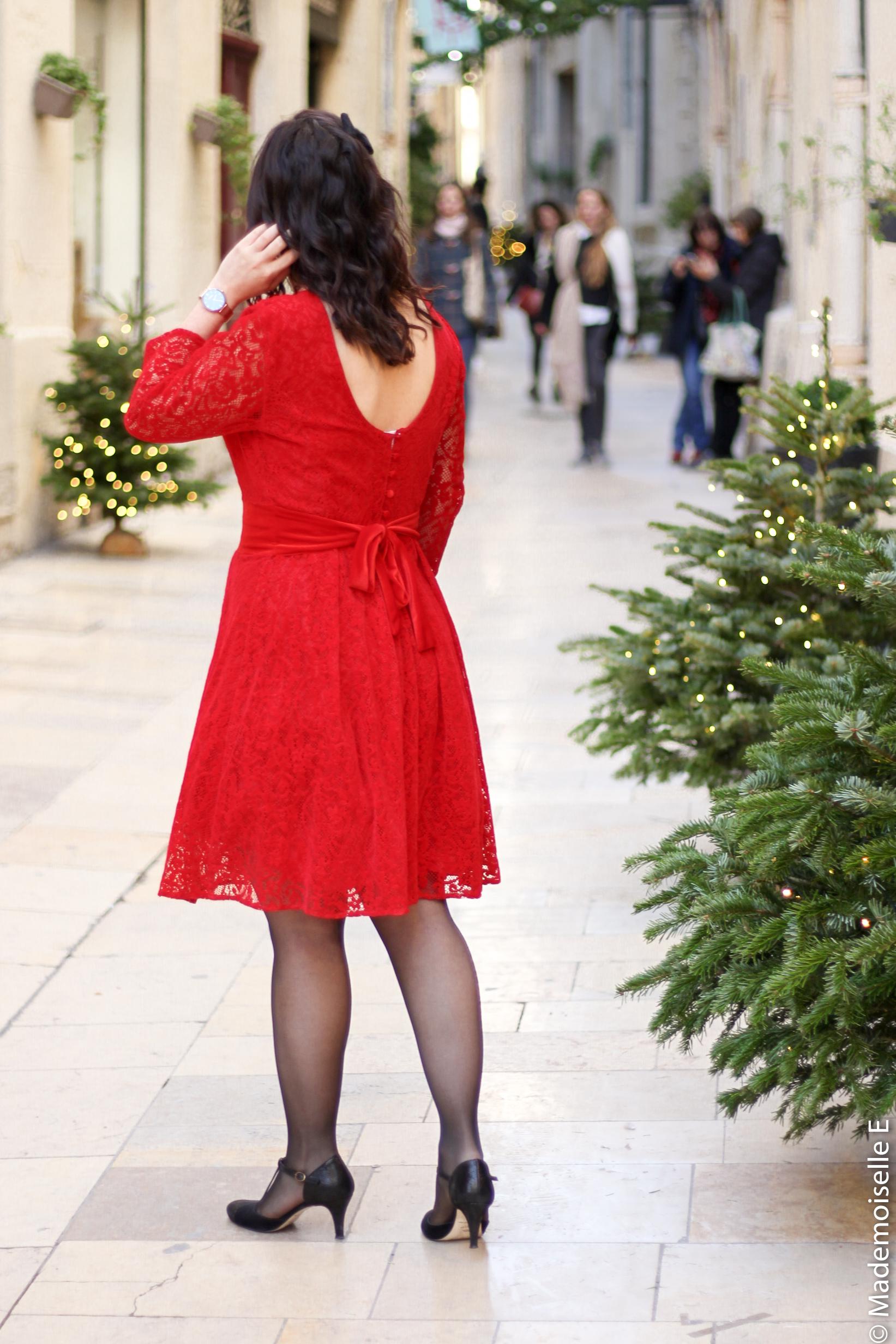 Robe rouge look de noel 1 mademoiselle-e
