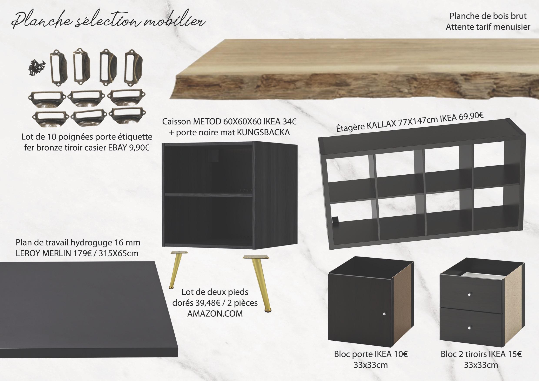 Idées aménagement bureau – Planche mobilier mademoiselle-e x bai_b_architecteinterieur