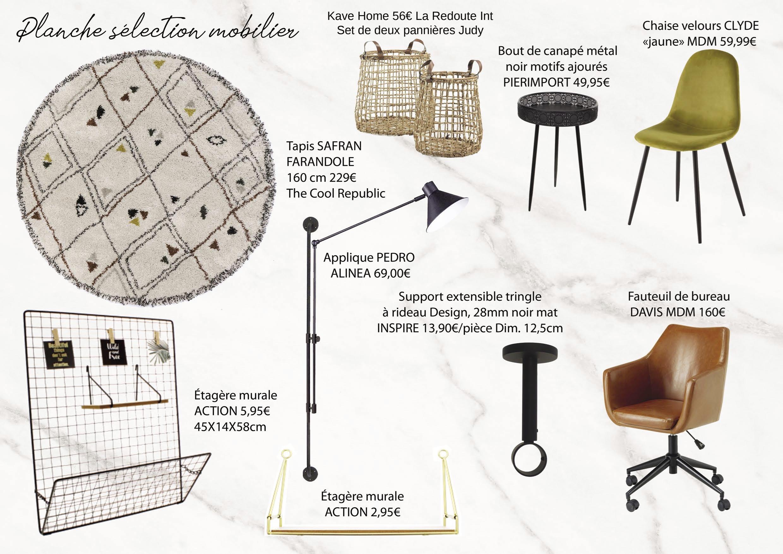 Idées aménagement bureau – Planche décoration mademoiselle-e x bai_b_architecteinterieur